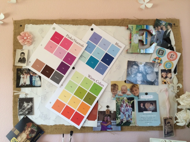 My color swatches rank right up there with pictures of my kids in my studio.