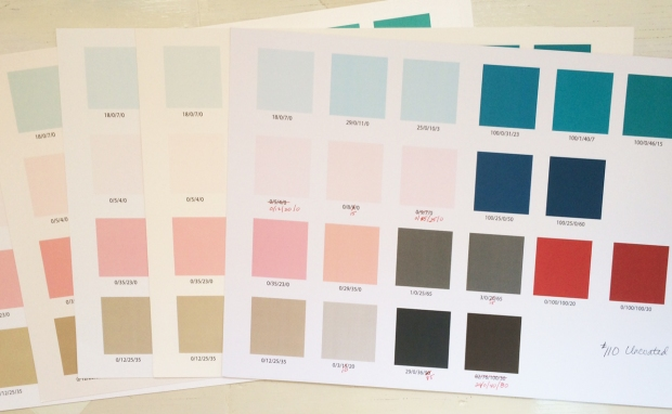Color test on different papers.