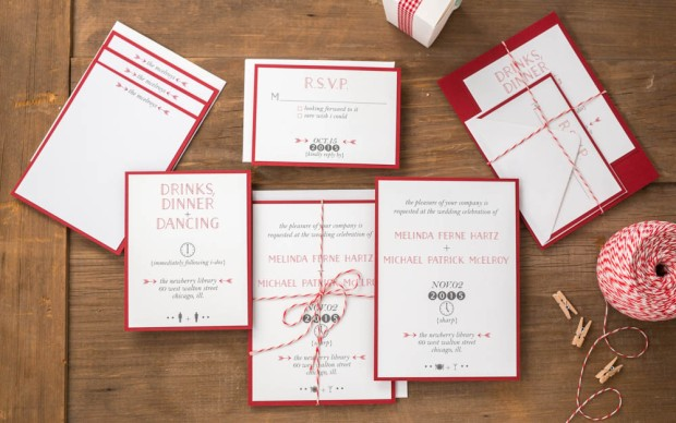 Brooklyn Wedding Suite – billet-doux Spring 2015 Bridal Collection  Printed by StationeryHQ