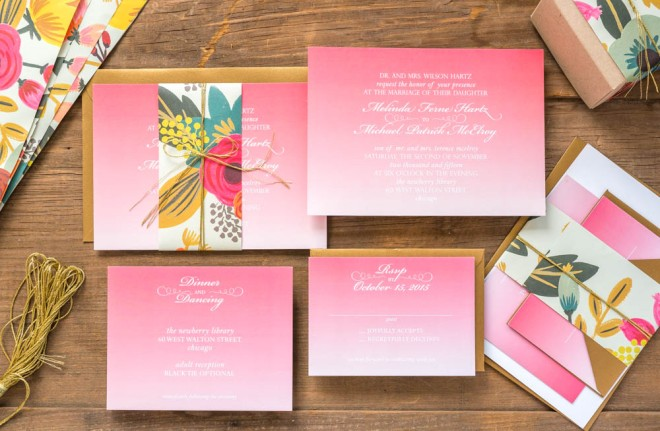 Petal Wedding Suite – billet-doux Spring 2015 Bridal Collection Printed by StationeryHQ