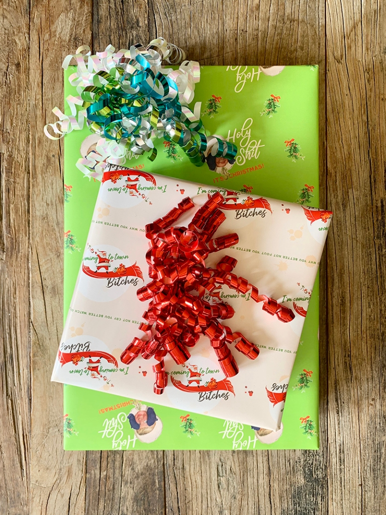 Custom Wrapping Paper Sheets